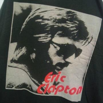 ロックT/バンドT Eric Clapton エリック・クラプトン ラグラン7分袖 未使用 L