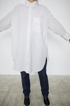 ZARA オーバーサイズポプリンシャツ ルーズ ホワイトシャツ S