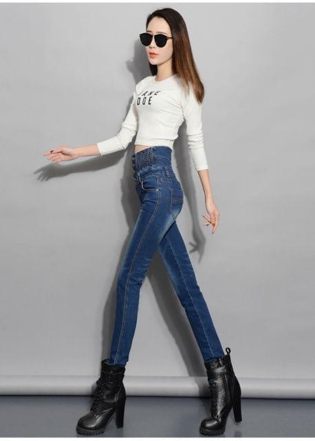 シャーリングウエスト★ストレッチ★デニムパンツ(26インチ) < 女性ファッションの