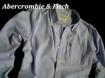 【Abercrombie & Fitch】アバクロ Vintage オックスフォードシャツ XXL/Blue