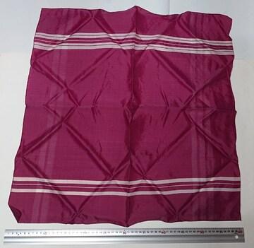 風呂敷 赤紫色 62cm×62cm チェック 昭和レトロ ハンドメイド