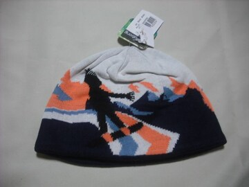wb152 女 BILLABONG ビラボン ニット帽 内側フリース 柄物