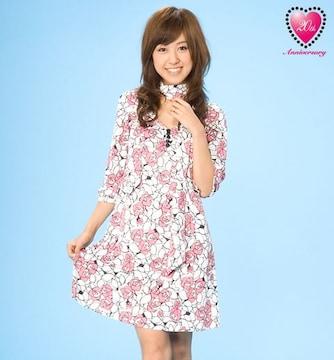 JAYRO★ジャイロ★ピンク花柄ワンピagehaお姉系JJRadyキャバ