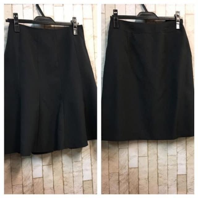 新品☆9号♪黒ストライプの2種スカート付スーツセット☆s504 < 女性ファッションの