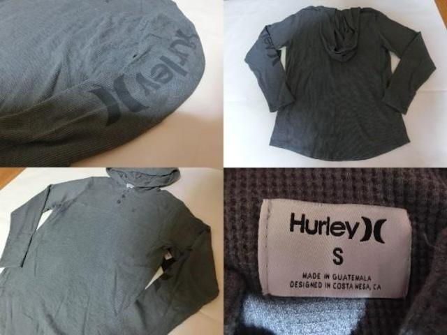 USA購入 HURLEYフード付サーマルロンT US Mサイズ < ブランドの