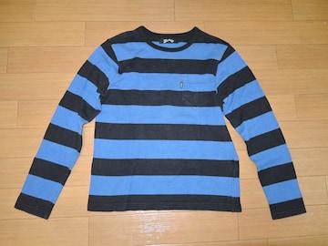 MARBLE マーブルズ ボーダー ロンTシャツ S 青黒 カットソー TMT