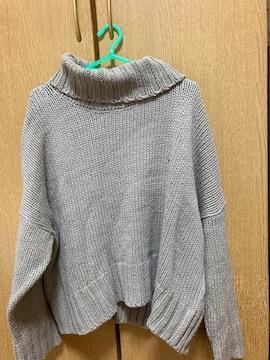 美品☆ayra☆ブラウンハイネックニットセーター