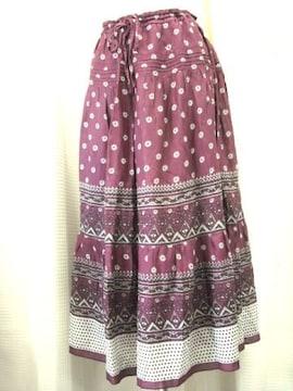 【コムサイズム】ティアードロングスカートです