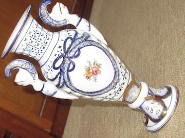 未使用☆焼き物*花瓶(ホワイト系)SHIBATA JAPAN