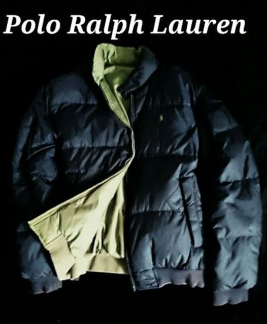 【Polo Ralph Lauren】ラルフローレン Vintage リバーシブル ダウンジャケット XL < ブランドの