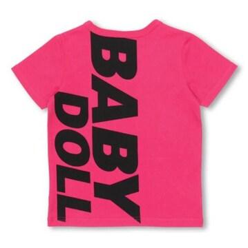新品BABYDOLL☆140 ポケット付き ロゴTシャツ ピンク ベビードール