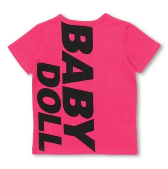 新品BABYDOLL☆140 ポケット付き ロゴTシャツ ピンク ベビードール  < ブランドの