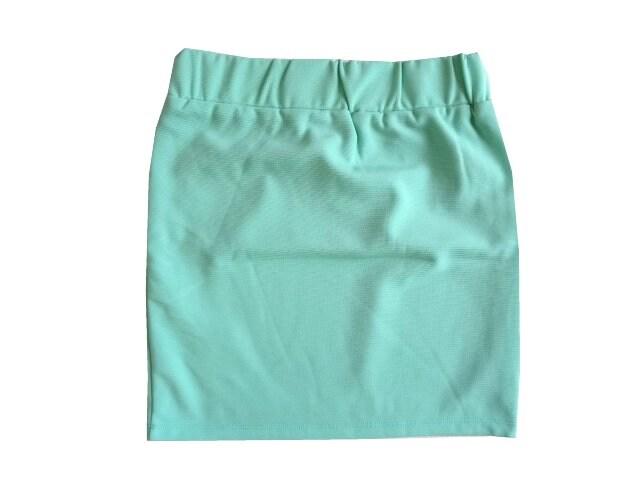 新品 定価5122円 エモダ EMODA 黄緑 タイト ミニ スカート S 7 < ブランドの