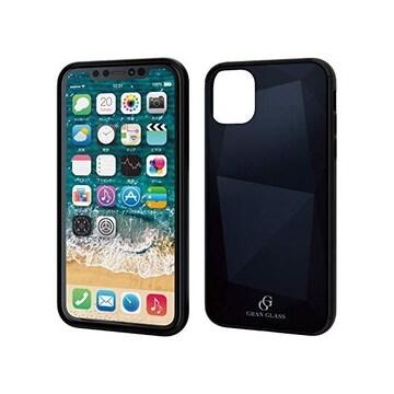 ★ELECOM iPhone 11 用 ハイブリッドケース ガラス ブラック