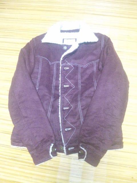 ボアジャケット 紫 サイズL 美品  < 男性ファッションの