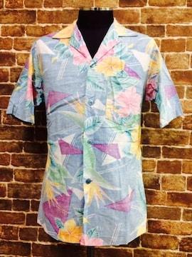 表記S!80's.ビンテージ.花柄.ハワイ製.ハワイアン.アロハシャツ.USA製.古着.サーフ