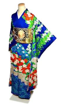 【最高級】新品同様 金彩 金箔 駒刺繍 振袖・長襦袢セット T2043