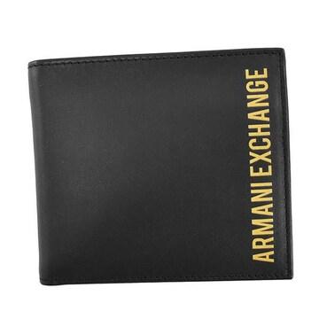 ◆新品本物◆アルマーニエクスチェンジ 2つ折財布(BK)『958098 0A828』◆