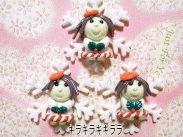 《New》クリスマス<樹脂粘土>★エンジェル*デコパーツ【3個セット】