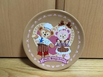 新品スウィートダッフィースーベニアデザートプレート皿ディズニーシェリーメイバレンタイン