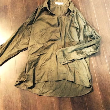 groveカーキオーバーシャツ