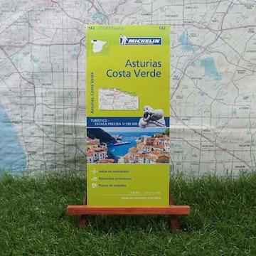 新品【輸入地図】アストゥリアス州 Costa Verde -Michelin-