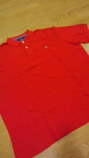 アメリカンリビンゲRALPH LAUREN 半袖ポロ 赤RED サイズXL→2XL位  < 男性ファッションの