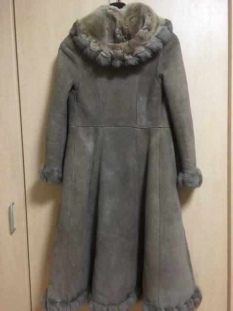 □良品【ムートン/ロングコート】スペイン製 約100万円□ < 女性ファッションの