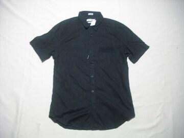 61 男 CK CALVIN KLEIN カルバンクライン 黒 半袖シャツ Mサイズ