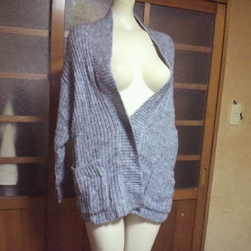 GU/ジーユーグレー セーター