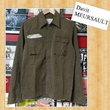 Davit MEURSAULT ダヴィット モルソー ミリタリーシャツ ジャケット 日本製