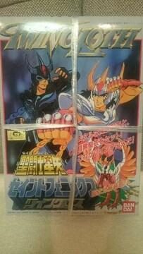 新品 聖闘士星矢 プラモデル セイントフェニックス 一輝&暗黒 ツインクロス 再版2001