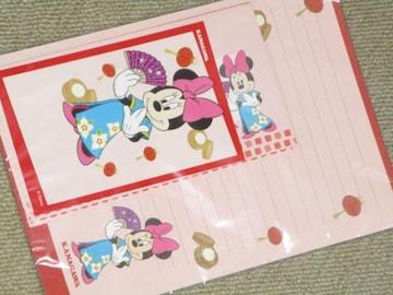 未使用☆ミニーマウス*ご当地レターセット(神奈川)郵便局