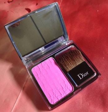 ディオールDior/スキンロージーグロウ001チーク頬紅ブラシ鏡付き