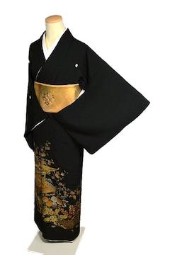【最高峰】新品同様 名工!金彩友禅【和田光正】黒留袖 T2035