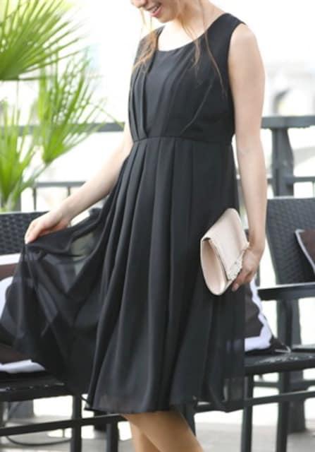 新品☆15号♪黒系のシンプルパーティワンピース☆j383 < 女性ファッションの