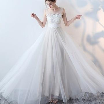 Mサイズ ホワイト ウエディングドレス