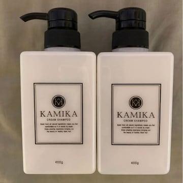 カミカ 黒髪クリームシャンプー KAMIKA 400g×2本