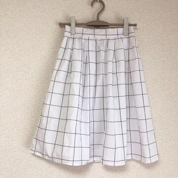 美品 チェック柄フレアスカート★