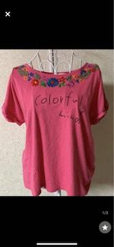 チチカカ★ピンク☆カジュアル★Tシャツ☆サイズM