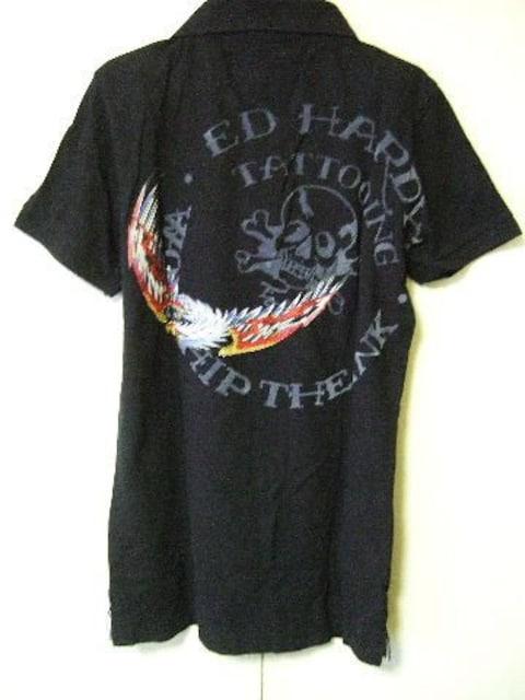 ‡ED HARDY‡エドハーディー‡刺繍‡半袖ポロシャツ‡ < ブランドの