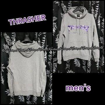 THRASHER パーカー スウェット トレーナー カモフラ 迷彩ロゴ