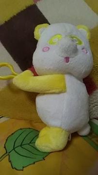 AAA・え〜パンダ・ぶら下がり ぬいぐるみポーチ・黄色 日高