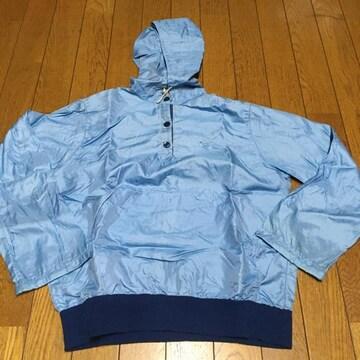 ヴィンテージ USA製 ナイキフード付ナイロンパーカー 青/濃紺 M