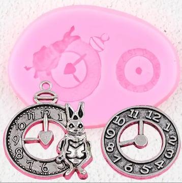 シリコンモールド スチームパンク ウサギ 時計