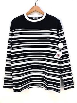 BARBARIAN(バーバリアン)ヘビーオンス ボーダーカットソークルーネックTシャツ
