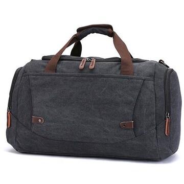 ボストンバッグ 旅行鞄 超大容量 キャンバス 2way 黒