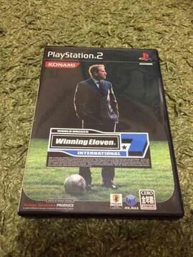 プレステ2、サッカーゲームソフト 付属品付き