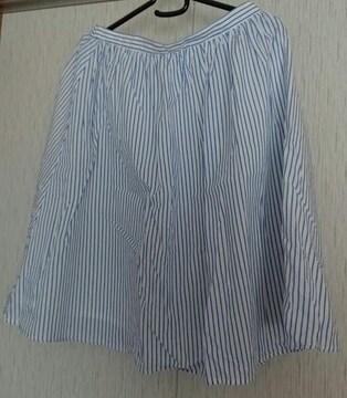 COLZA☆ストライプのフレアスカート☆L
