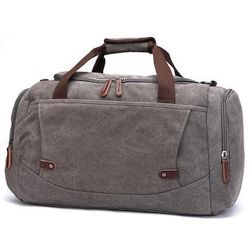 ボストンバッグ 旅行鞄 超大容量 キャンバス 2way グレー